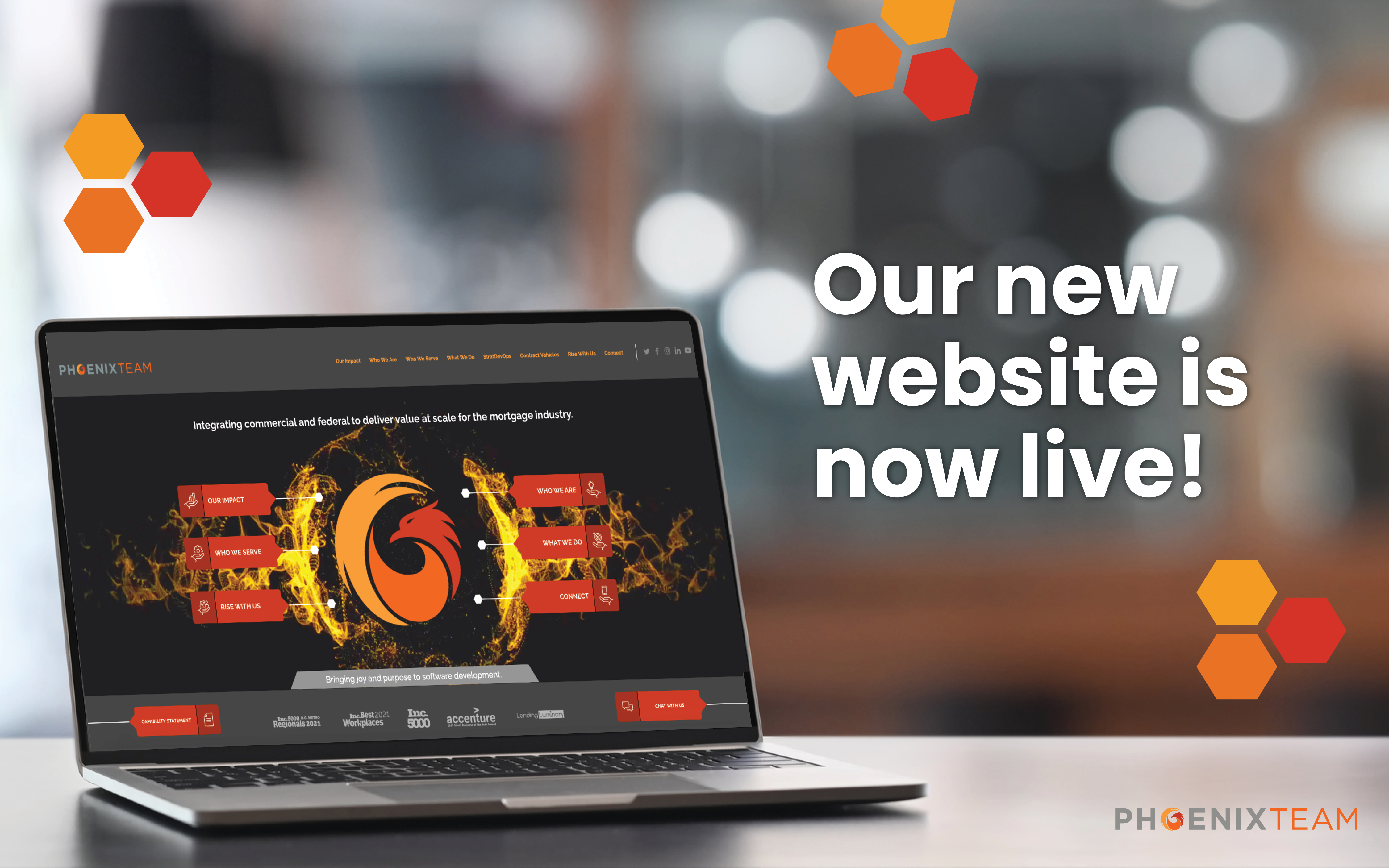 PhoenixTeam Our New Website is Live